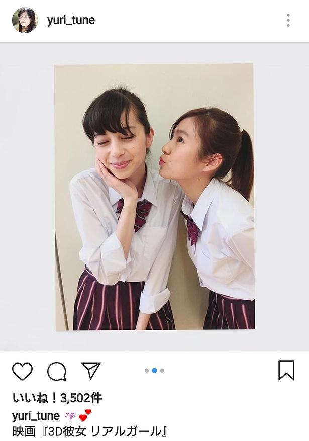 【写真を見る】恒松祐里のキスで中条あやみがとろけそうな顔に…!