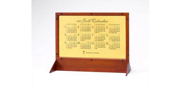 3000万円の純金ビッグカレンダー(表)