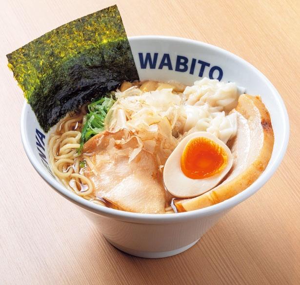 煮干、昆布、サンマ節で丁寧にとったスープがベースの「和人PREMIUM」(1200円)/麺屋 和人 PREMIUM 北新地