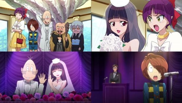 「ゲゲゲの鬼太郎」第24話の先行カットが到着。ねずみ男が美女と結婚!