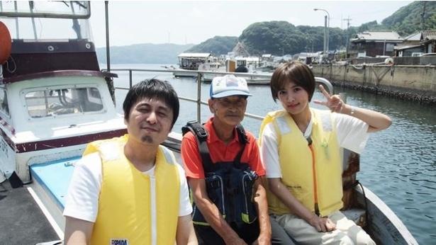 夏菜は船でしか行けない1日3組限定のレストラン・魚山人へ!