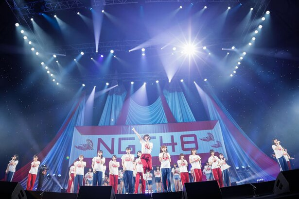【写真を見る】NGT48・荻野由佳ジャージ姿で新曲披露
