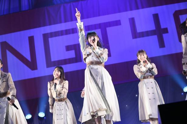 NGT48・荻野由佳らがジャージ姿で躍動!? 日本武道館で新曲イベントを開催