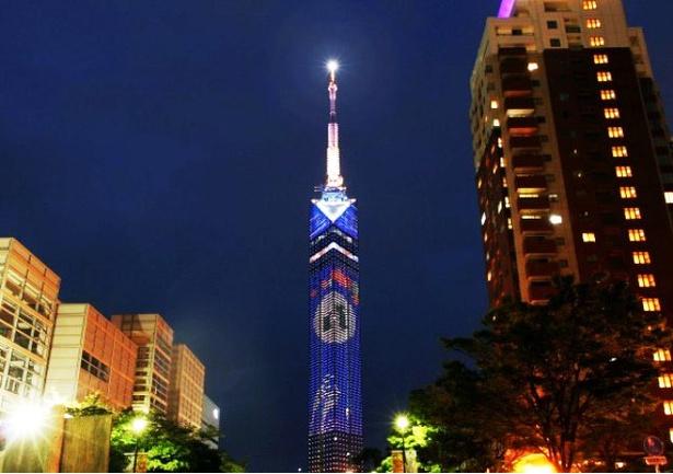 福岡タワー お月見イルミネーション点灯 / お月見イルミネーションが点灯!