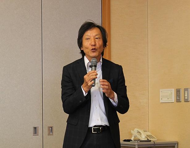 まち博へ開催の思いを語る、東大阪ツーリズム振興機構の清水氏