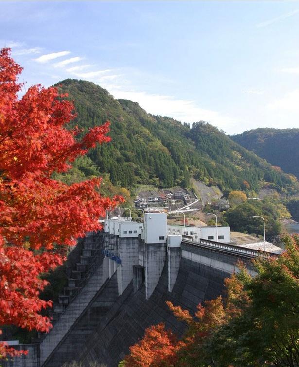 耶馬渓 / ダイナミックな噴水と共に色鮮やかな紅葉が楽しめる