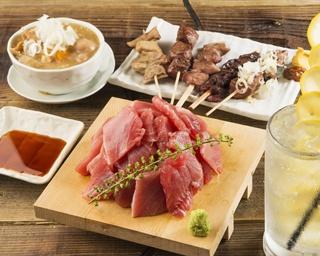 新鮮なやきとん&三崎港で直接買い付けたマグロ料理を低価格で