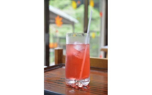「赤滝ジュース」(450円)/赤滝茶屋