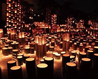 竹灯篭が幻想と幽玄の世界へ誘う!大分・日田「千年あかり」開催