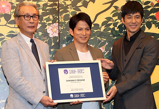 岡田准一&西島秀俊&木村大作監督、受賞に笑顔!