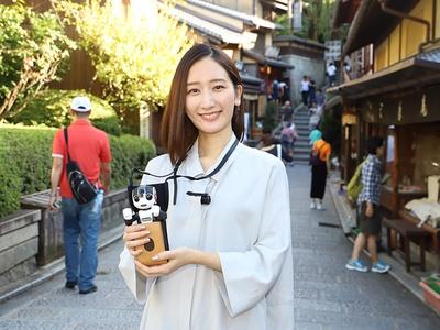 「京のロボ旅タクシー」を根垣あもさんが体験