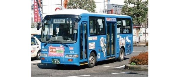 調布市内を循環するミニバスは鬼太郎柄!