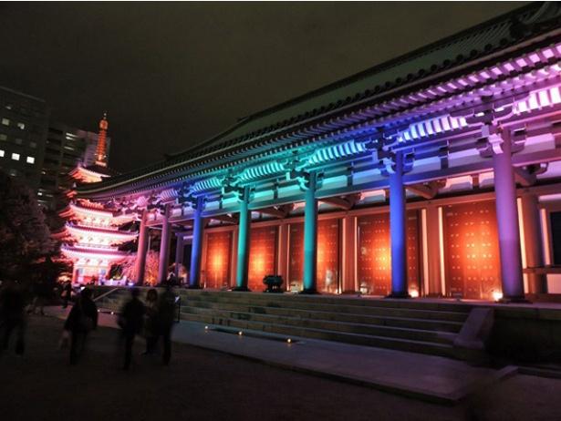 【写真を見る】光に包まれる東長寺は、日本最古の弘法大師創建の寺