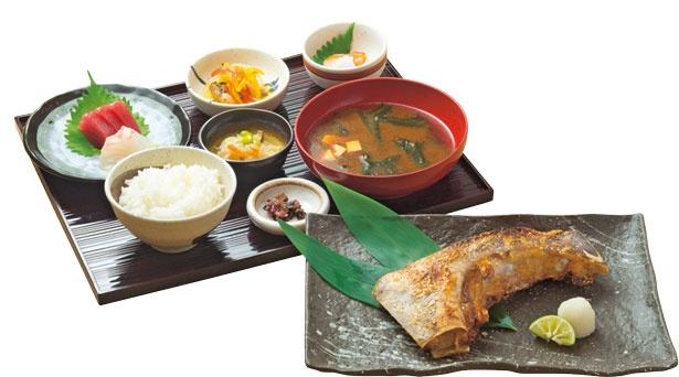みなみ鮪特大かま定食(1620円)。カマは煮込みか焼きかを選べる/魚食処 一豊 道修町本店