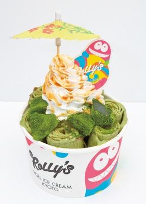 【写真を見る】京都の人気店「ROLLY'S ROLL ICE CREAM KYOTO」が名古屋に上陸! 抹茶好きにはたまらない「宇治抹茶ワラビ」(842円)