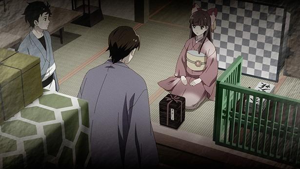 「つくもがみ貸します」第11話の先行カットが到着。恋の悩みを持ち合った茶の席で…