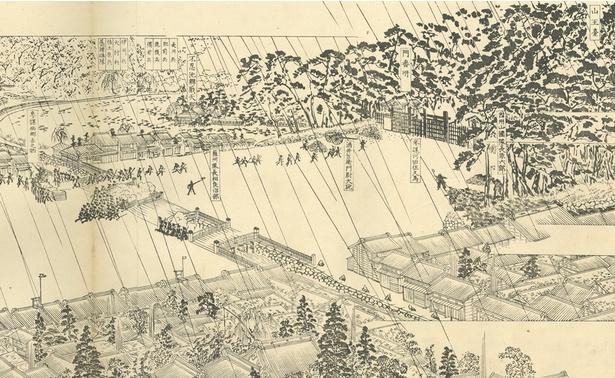 【写真を見る】戊辰戦争における激戦のひとつ「上野戦争」