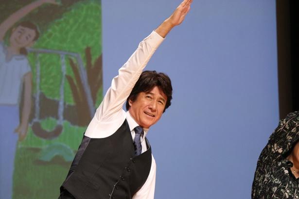 草刈正雄が主演作『体操しようよ』の完成披露舞台挨拶に登壇