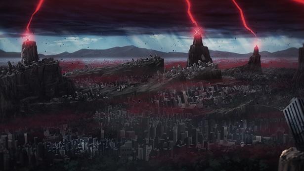「ロード オブ ヴァーミリオン 紅蓮の王」第12話の先行カットが到着。ついに東京崩壊が始まる!