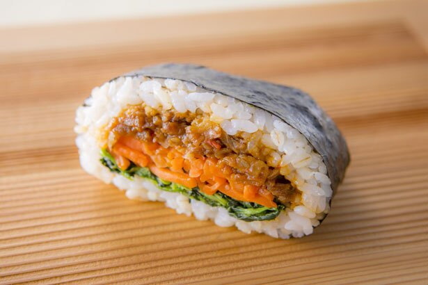 自家製辛味噌牛肉と彩り野菜のビビンバ(270円)/笑屋にこや NICO-YA