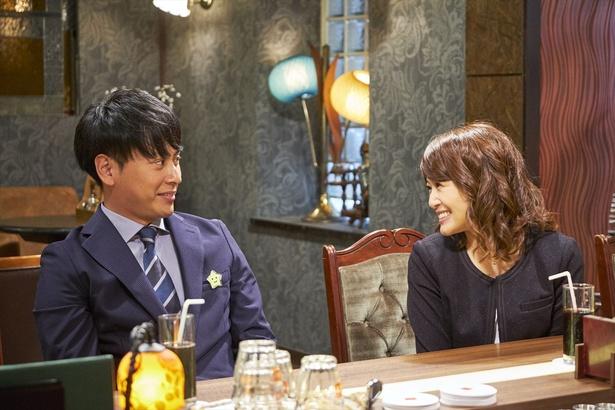 佐津川愛美は幸助(山下健二郎)の同僚・あずさを演じる