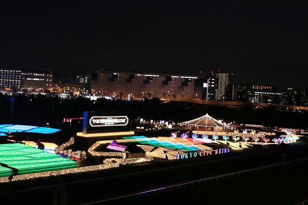 【写真を見る】内馬場をイルミネーションで彩る「タイムトラベルゾーン」の全景
