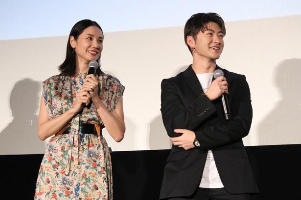 映画『ハナレイ・ベイ』で親子役で共演した吉田羊、佐野玲於(GENERATIONS from EXILE TRIBE)