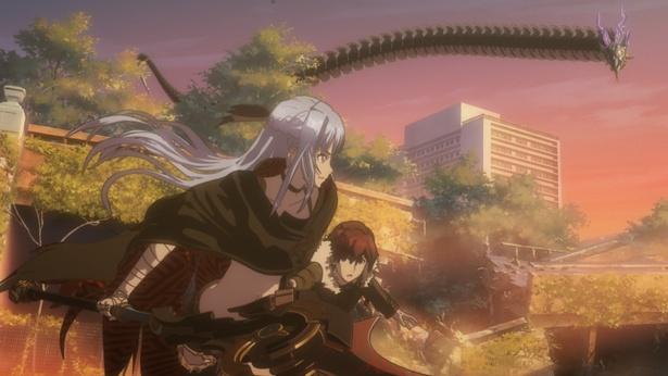 【写真を見る】巨大なモンスターと対峙するソラとカナタ。キャラクター、背景の描き込みが半端なく美しい!