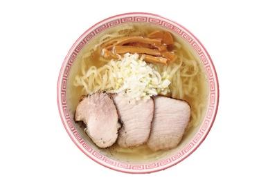 モーニング限定「モーニングスペシャル 中華そば塩」(680円)/「麺切り 白流」