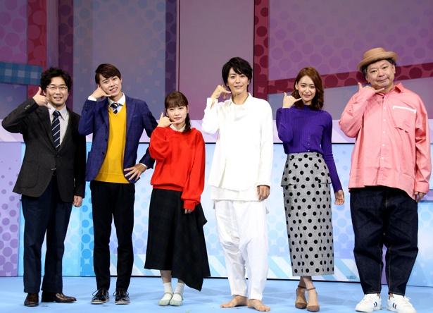 作・演出を務めた鈴木おさむ(写真右端)は「女性が見に来て、絶対に泣けるラブストーリーを作ろうと思った」とコメント