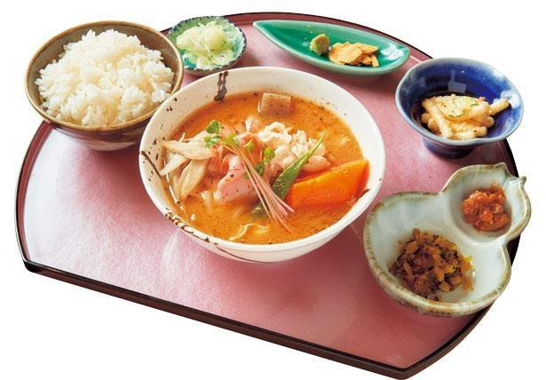 相盛り大坂豚汁ご飯セット(890円)/大坂豚汁・生姜焼き ロマン亭