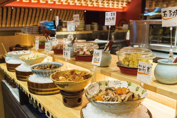 手作りのおばんざい食べ放題は60分1404円から/おざぶ