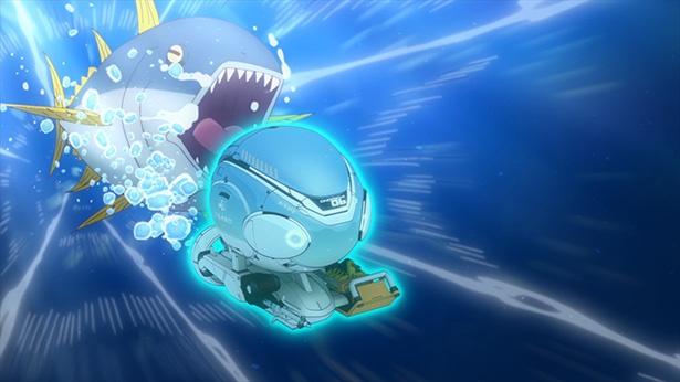 「ソラとウミのアイダ」第1話の場面カットが到着。いきなり宇宙漁へ出発!?
