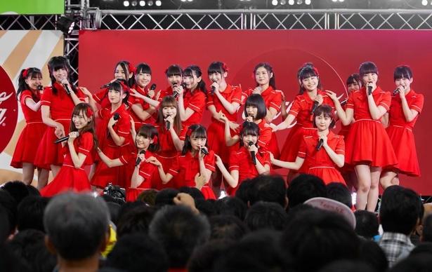 大勢のファンを沸かせたNGT48