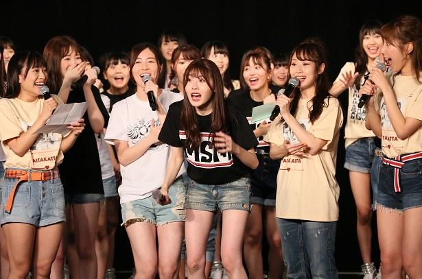 SKE48の10周年記念特別公演 前編で谷真理佳のワタナベエンターテインメント移籍が発表された