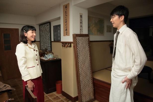第5回(10月5日放送)シーンより。福子と萬平は3年ぶりに再会する!!