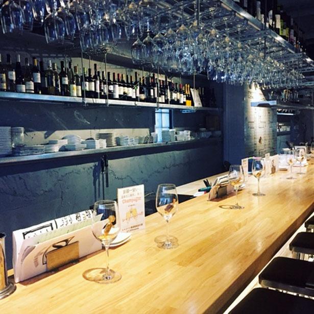 地下にある落ち着いた空間/ワイン&シャンパン 358
