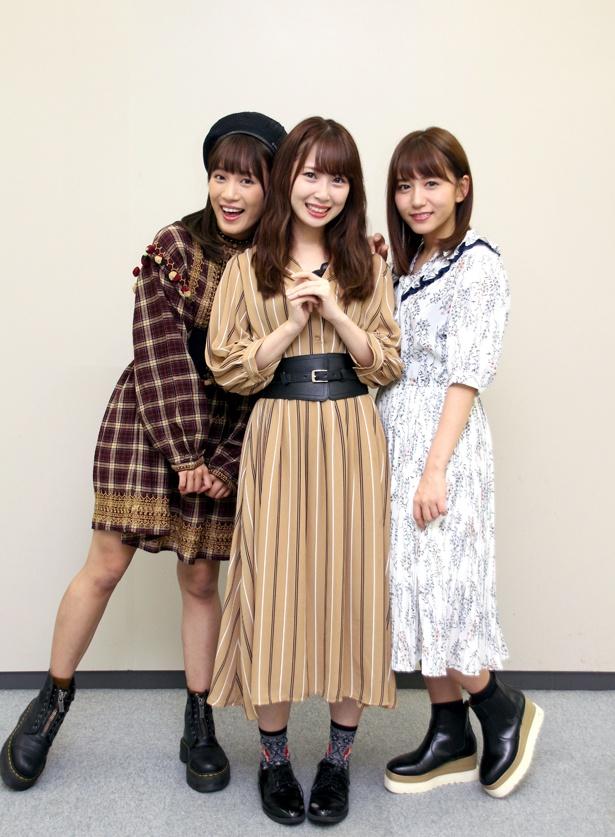 斉藤真木子、高柳明音、大場美奈(左から)合同インタビューの後編