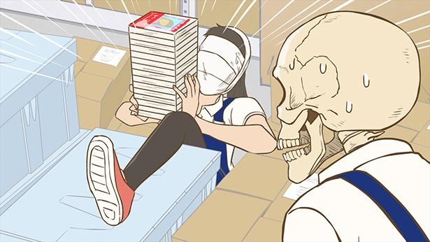 「ガイコツ書店員 本田さん」第2話の先行カットが到着。売場のイカれたメンバーたちが登場!