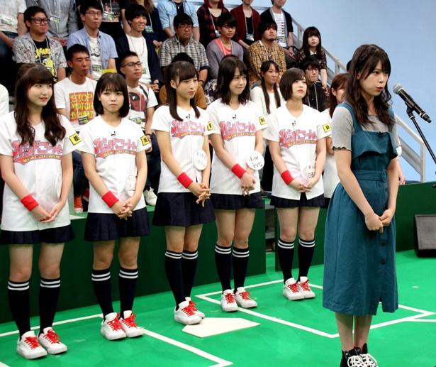 吉川七瀬が遅れてきたため、リハーサルは急きょ公開で行われることに