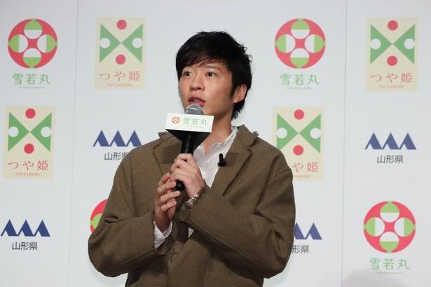田中圭「雪若丸(ゆきわかまる)」 デビューCM発表会より