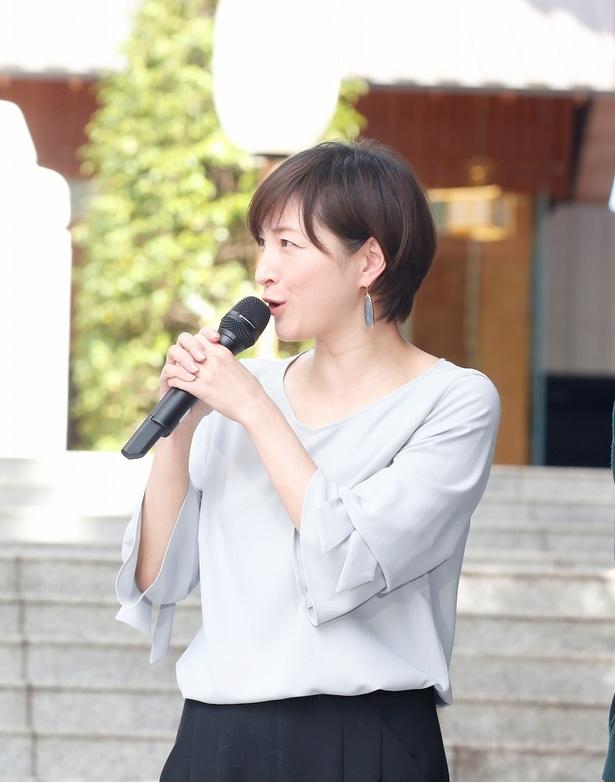 撮影エピソードを語る広末涼子