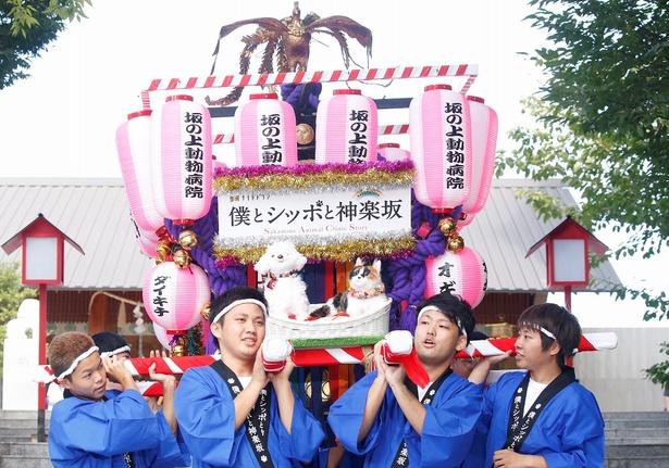 「僕とシッポと神楽坂」のイベントでオリジナルみこしが登場!