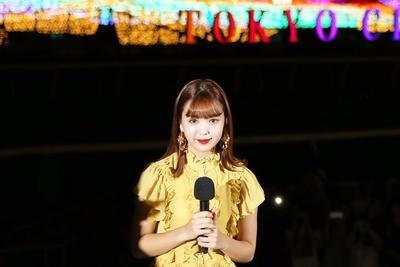 「レインボーに輝いていて、かわいいしキレイ」とTOKYO MEGA ILLUMINATIONの魅力を述べた藤田ニコル