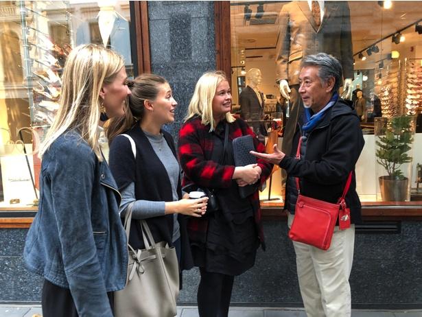 【写真を見る】オスロの街を歩いた高田純次は「遅くまで店が開いていて、物価が日本の半分で、若くてきれいな女の子といっぱい出会えるなら 言うことなし(笑)」とテキトー節全開