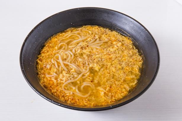 「タンタンメン(辛さ普通)」(750円)。溶き卵を加えるのが川崎スタイル