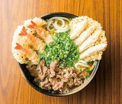 ふじや 若松店 / 「肉海老ごぼううどん」(800円)