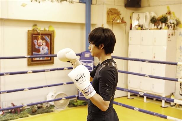 初めてのキックボクシングに一生懸命挑戦する匠海くん