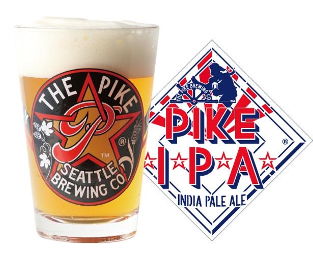 「PIKE IPA」シトラスとフローラルのような華やかなホップの香りと、飲んだ後に舌の上で続く心地よくも強めの苦味が印象的(アルコール度数:6.0%)