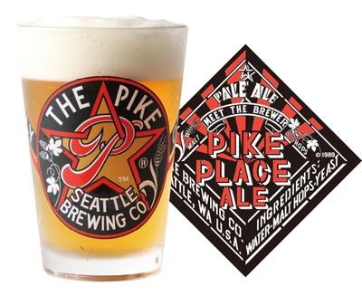「PIKE PLACE ALE」シトラス系ホップと芳醇なモルトのバランスがよく、フルーツの甘味とハーブのビターがクリアで爽快な後味を作り出す(アルコール度数:5.0%)